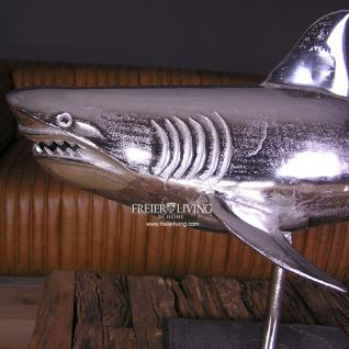 Designer Hai Fisch Raubfisch Figur Skulptur Alu Aluminium - Vorschau 2