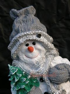 Schneemann Dekofigur Winterfigur Weihnachtsdeko - Vorschau 2