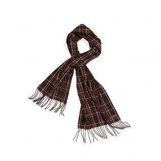 Tartan Schal mit Fransen aus Wolle