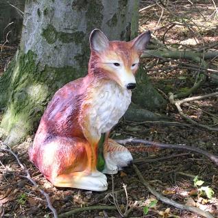 Fuchs Dekofigur Gartenfigur Figur Statue Wald Deko