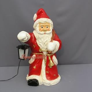 Weihnachtsmann Laterne Gartenfigur Figur Skulptur