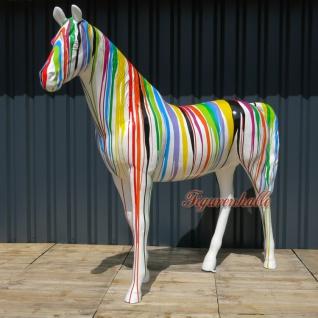 Pferd Modern Figur Skulptur Pop Art Farbverlauf bunt Kunst Pferdeskulptur Mehrfarbig