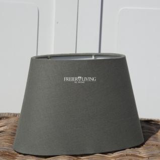 Lampenschirm oval grau e27