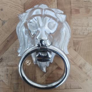 Löwe Lion Wand Handtuchhalter Löwenkopf Gäste WC Bad Shabby Chic Türklopfer gold