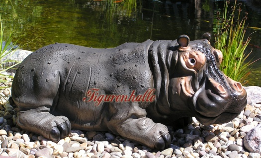 Nilpferd Flusspferd Figur Statue Aufstellfigur - Vorschau 2