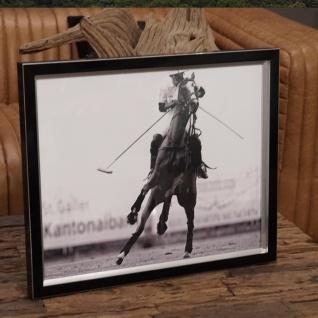 Polospieler auf Pferd Foto in Rahmen Pferde laufend Rahmen eingerahmt