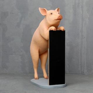 Schwein Werbefigur Werbeaufsteller Laden Deko