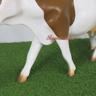 Kuh braun weiß Gartenfigur Figur Dekofigur & Werbefigur - Vorschau 3