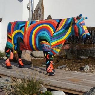 Riesen Kuh Kunstbemahlung Bunte lebensgroß Künstler - Vorschau 1