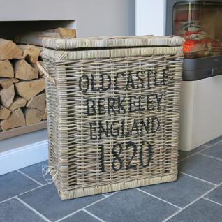 Rattankorb Wäschekorb Allzweckkorb Korb 1820 weiß Landhausstil