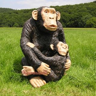 Simpanse Affe Figur Dekofigur Statue Skulptur