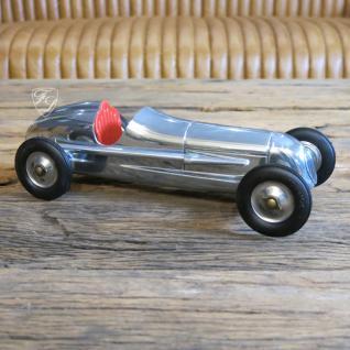 Auto Oldtimer Aluminium Nostalgie Car Figur Deko Retro Indianapolis Red Seat