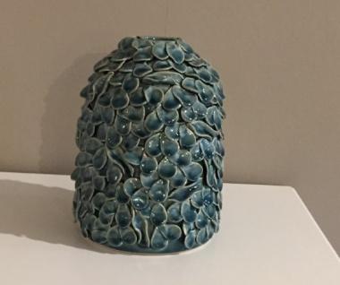 Vase blau blaeulich Bletter Optik Daenischen Interior - Vorschau 1