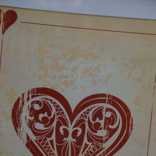Wandbild Spiegelrahmen Herz Kartenspiel Spielkarte Poker Fan Artikel - Vorschau 3