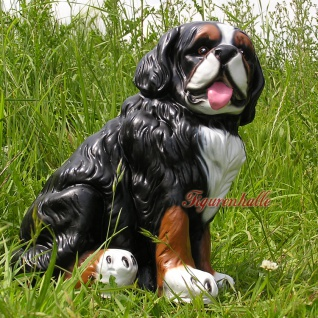 Berner Sennenhund Dekofigur Gartenfigur Figur