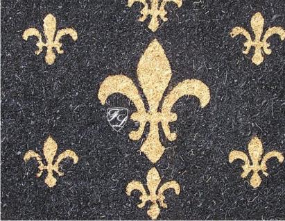 Französische Lilie Kokos Fußmatte Fußabtreter Bodenmatte Schabby Chic Nostalgie Matte Deko - Vorschau 2