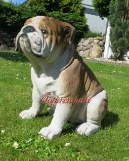 Englische Bulldogge Hundefigur Hund Haustier Figur Skulptur Dekoration Tier neu