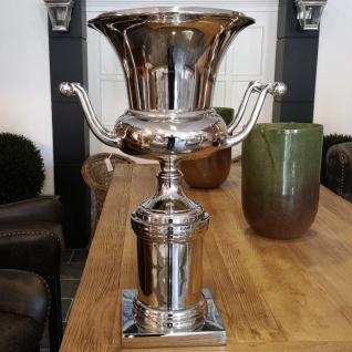 Barock Deko Vase oder Sektkühler zur Ampfohren Dekoration aus ALU