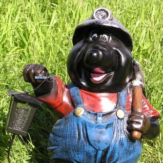 Maulwurf mit Laterne Gartenfigur Dekofigur Figur - Vorschau 2