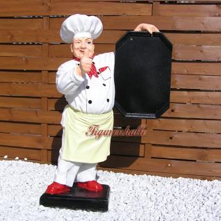 Koch Werbefigur Imbiss Menütafel Aufstellfigur