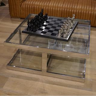 Wohnzimmertisch metall glasplatte glastisch home interiors for Glastisch wohnzimmertisch