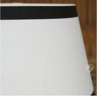 Lampenschirm weiß blau klassisch rund ca. 25 cm - Vorschau 3