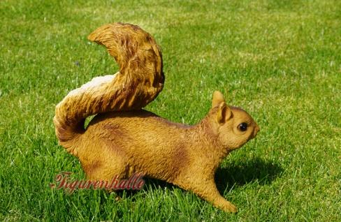 Eichhörnchen Figur Statue Skulptur Deko Wald - Vorschau 3