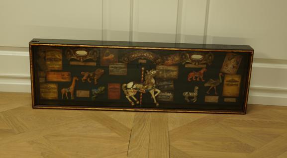 Karussell Vitrine Schaukasten Nostalgie Antik Dekoration Deko - Vorschau 1