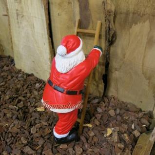 Weihnachtsmann Leiter kletternd Figur Statue Skulptur - Vorschau 4