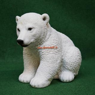 Anktarktis Eisbär sitzend Figur Statue Skulptur Deko