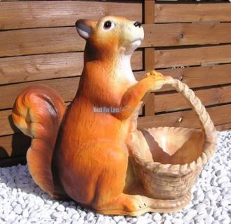 Eichhörnchen als Gartenfigur Figur Garten Deko