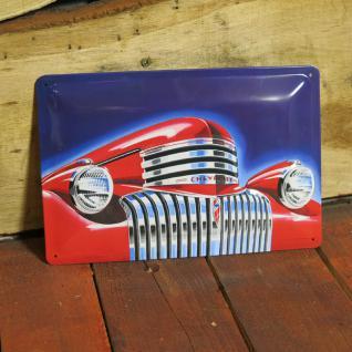 NOSTALGIE BLECHSCHILD US CAR CHEVROLET RETRO NEU OLDSCHOOL SCHILD CHEVY REKLAME