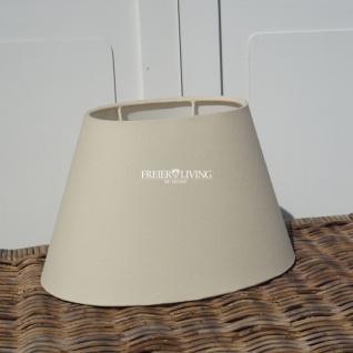 Lampenschirm oval Creme e27