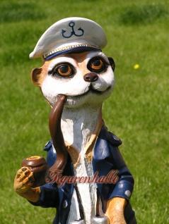 Erdmännchen Figur Statue Maritim Kapitän Seefahrer - Vorschau 2
