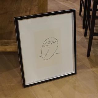 Kunstdruck Die Eule von Pablo Picasso Wandbild Deko