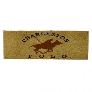 Kokos Fußmatte Charleston Polo Fußabtreter Shabby Chic Kokosfaser Gummi - Vorschau 1
