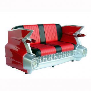 Cadillac Sofa Diner Deko rot mit Beleuchtung