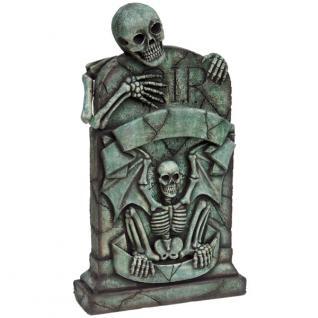 Grabstein Skelett Pirat Dekofigur Werbefigur