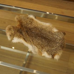 Kaninchenfell Dekoration Fell Deko braun
