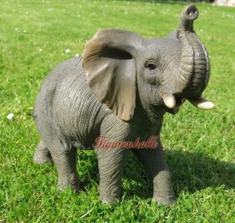 Elefant Safari Elephant Rüsseltier Figur Skulptur Dekoration Tier neu