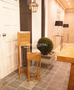 Garten Wintergarten Windlicht Mediterraner elegant Chrom Tik Home Interiors Deko