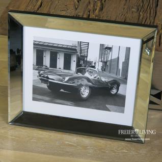 Jaguar XKSS Steve McQueen Wandbild Auto Oldtimer Spiegelrahmen Legende