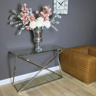Konsolentisch Lampentisch Beistelltisch Metall Glasplatte Glastisch Home Interiors