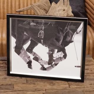 Polospieler Foto in Rahmen Pferde laufend Rahmen eingerahmt