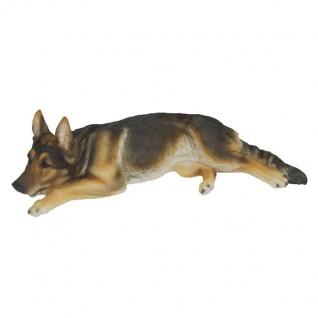 Schäferhund liegend Deutscher Schäferhund lebensecht Figur Statue Skulptur