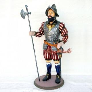 Soldat Kavallarie Spanien Figur Statue Skulptur Deko