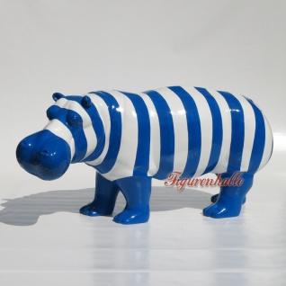 Nilpferd Flusspferd Figur Pop Art top Design Bunt Tier animal Deko