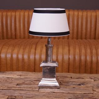 Lampenfuß Alu Tischlampe in modernem Design als Nachttischlampe