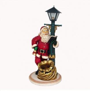 Weihnachtsmann Laterne Figur Werbefigur Weihnachts Deko Dekoration