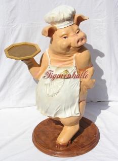 Schwein als Butler Dekofigur Werbefigur - Vorschau 2